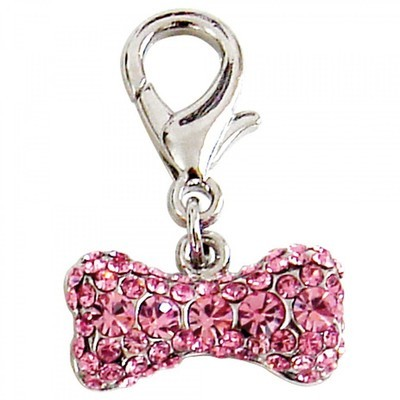 Pave Bone Collar Charm - Pink