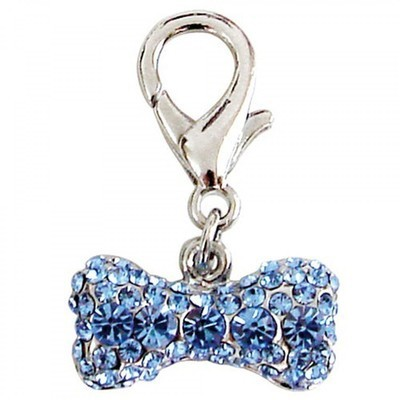 Pave Bone Collar Charm - Blue