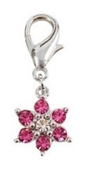 Luxe Flower Collar Charm - Pink