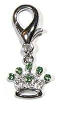 Crown Collar Charm - Green
