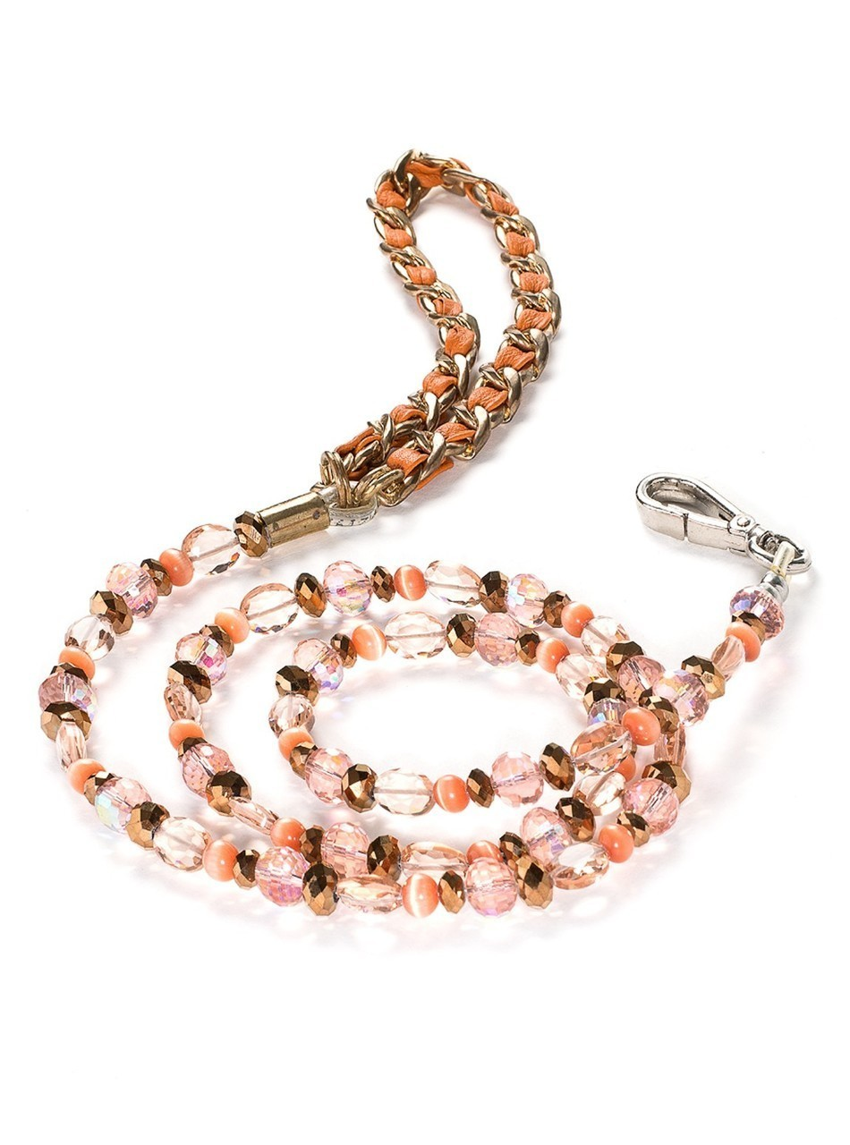5th Avenue Collection Tangerine Jewel Leash