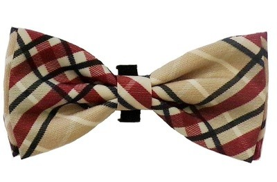Bow Tie - Tan Plaid