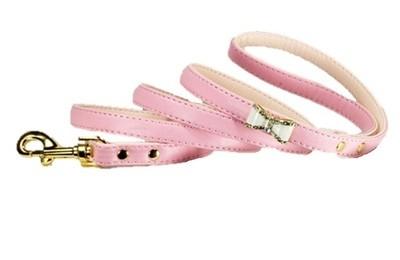 Crystal Bow Leash - Pink
