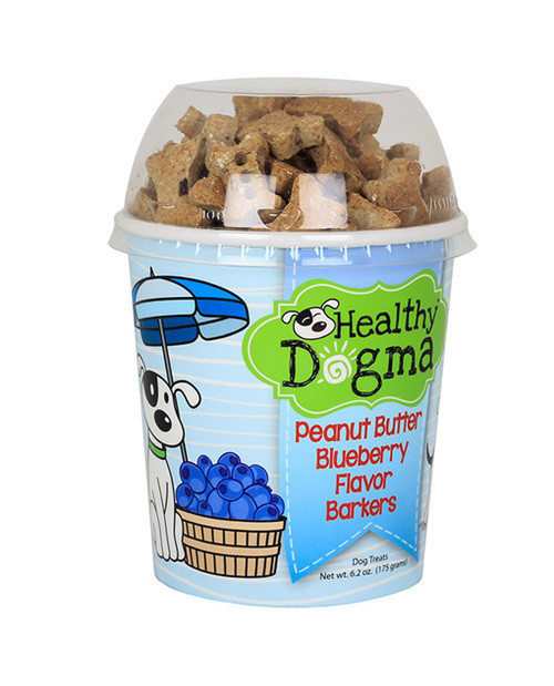 Healthy Dogma Peanut Butter Blueberry Barkers