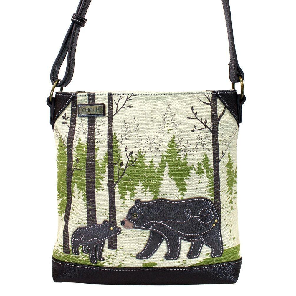 Chala Safari Canvas Crossbody - Bear