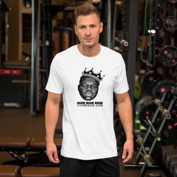Biggie Biggie Biggie Unisex Short Sleeve Jersey T-Shirt with Tear Away Label