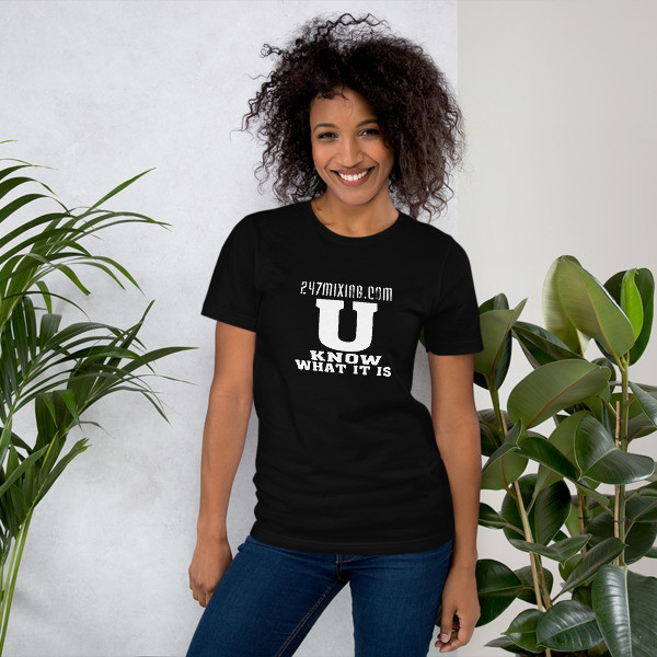 U Know What It Is Unisex Short Sleeve Jersey T-Shirt with Tear Away Label