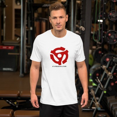 12 Inch Red Letter Unisex Short Sleeve Jersey T-Shirt with Tear Away Label