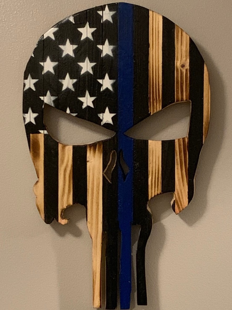 Wood Burnt Punisher