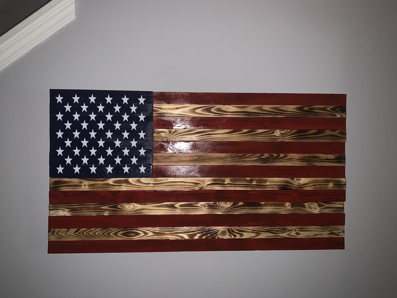 Burnt/Red US Flag