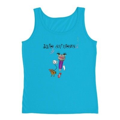 Broken Notez ( Walking that Bag ) tank top