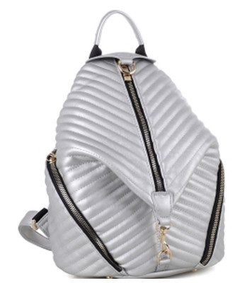 Chevron Quilted Multi-Pocket Fashion Backpack Purse