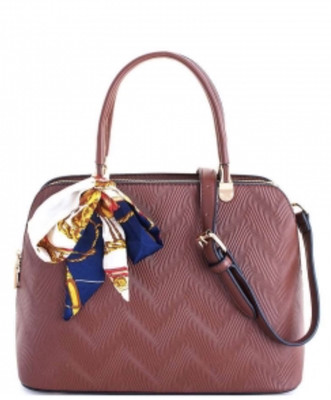 Princess Domed Satchel with Silky Scarf