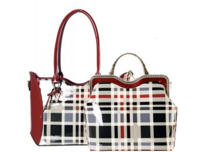 Pretty Plaid Leatherette 2in1 Bag