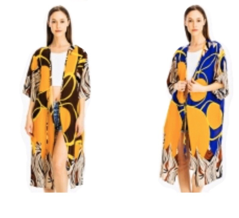 Madagascar Collection African Print Two Way Style Kimono