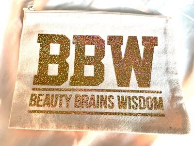 BBW - Beauty,Brains,Wisdom Cosmetic Bag