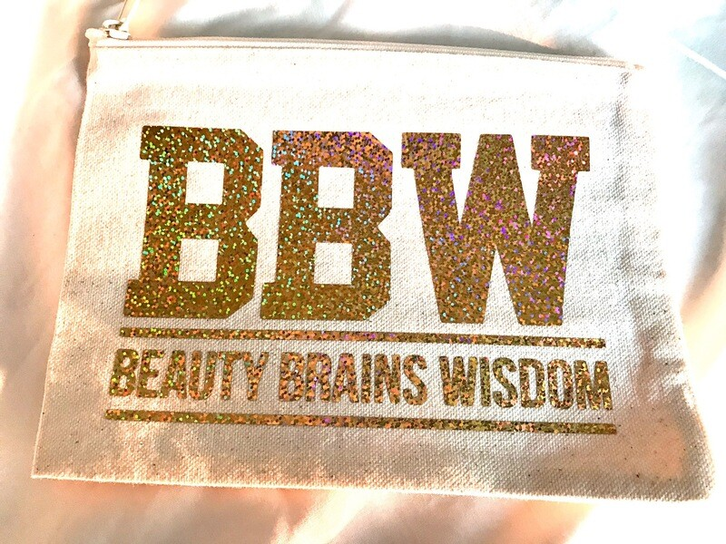 BBW - Beauty,Brains,Wisdom Cosmetic Bag