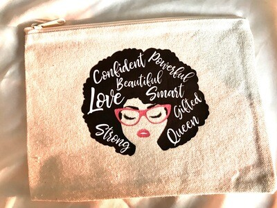 Strong & Confident Woman Cosmetic Bag