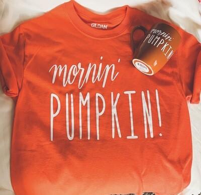 Mornin Pumpkin T- Shirt & Mug Set