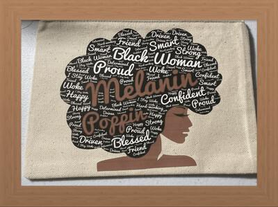 Melanin Poppin Cosmetic Bag