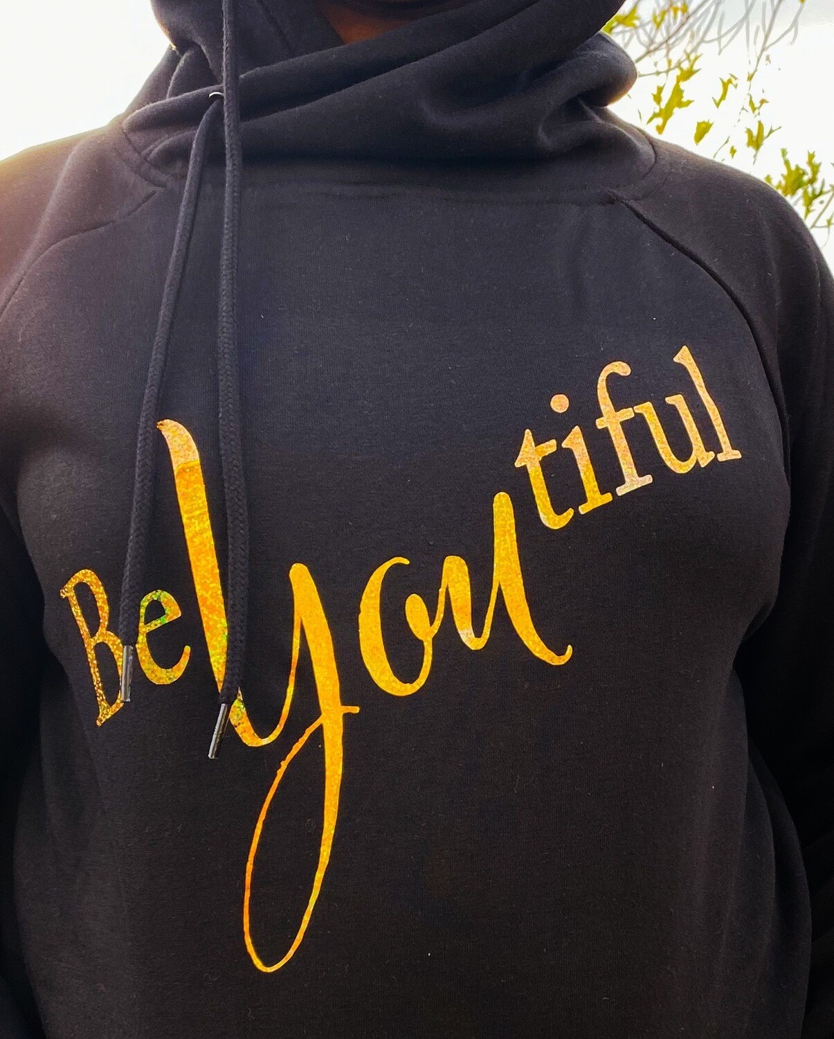 Be You Tiful Side Tie Hoodie