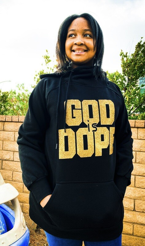 God Is Dope Side Tie Hoodie