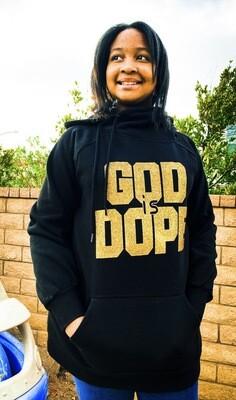 God Is Dope Side Tie Hoodie