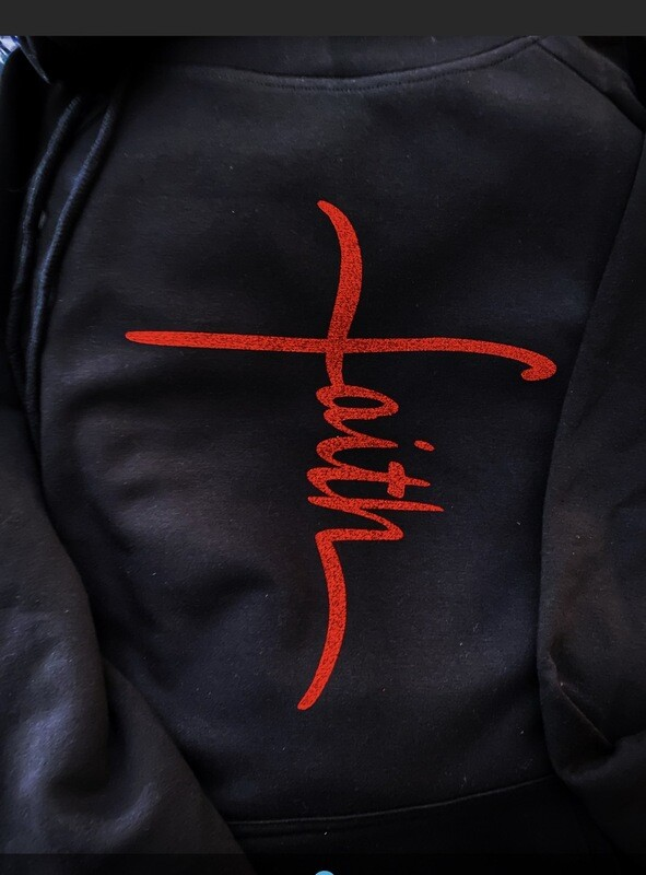 Faith Cross side Tie Hoodie
