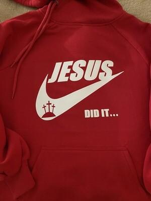 Jesus Did It Side Tie Hoodie
