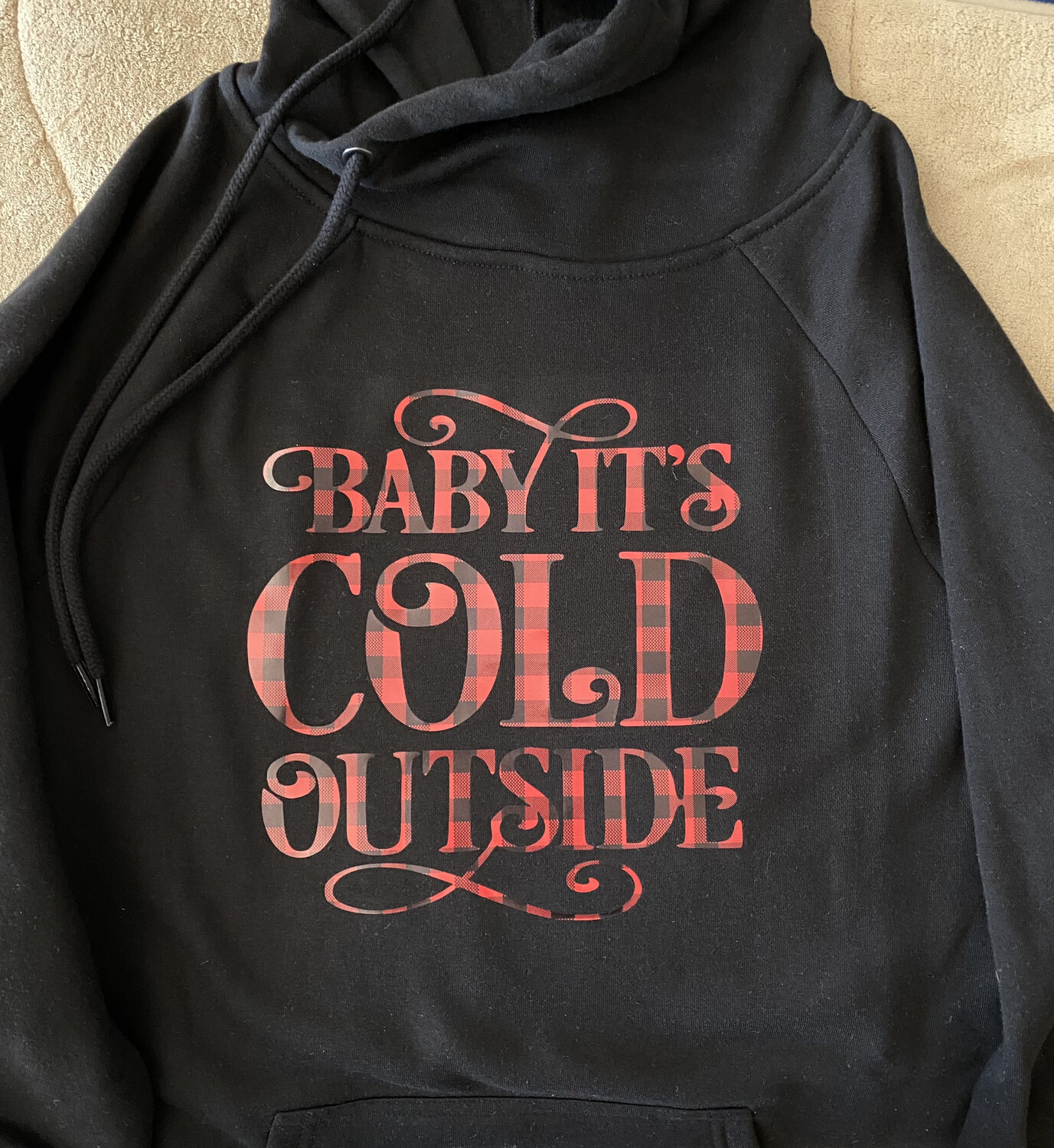 Baby It's Cold Outside Side Tie Hoodie