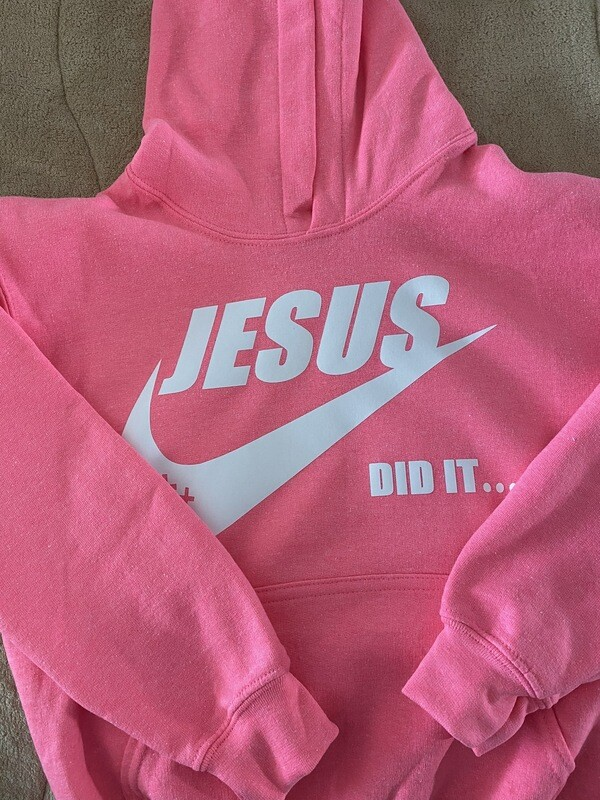 Jesus Did It Hoodie- Children's Youth Sizes