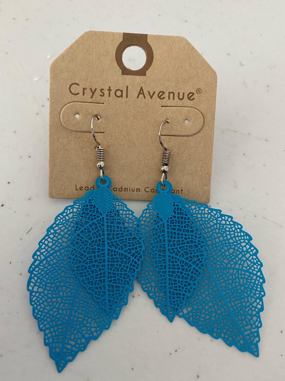 Blue Feathers Earrings