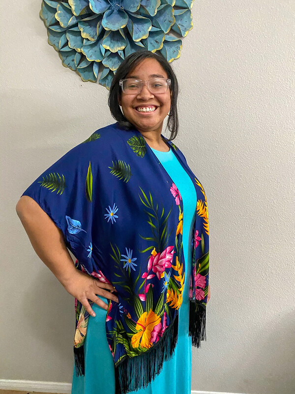 Island Blue Kimono