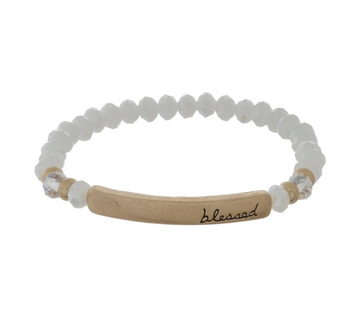 Beautifully Blessed Beaded Bracelet