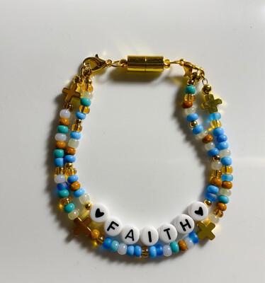 Faith Beaded Double Set Bracelet