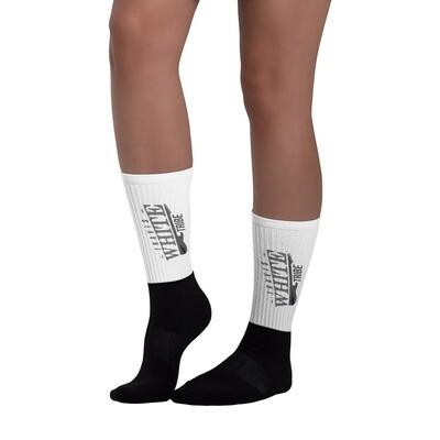 Travis White Tribe Black and White Socks