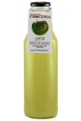 DIETA 750ml Świeży sok warzywno-owocowy ogórek/grejpfrut/jabłko