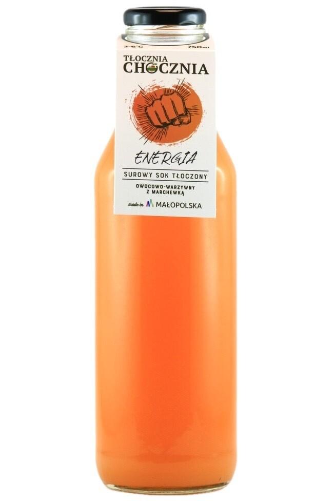 ENERGIA 750ml Świeży Sok warzywno-owocowy marchew/jabłko/ pomarańcza