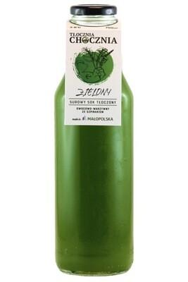 ZIELONY 750ml Świeży Sok warzywno-owocowy szpinak/pomarańcza/jabłko