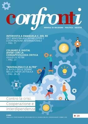 Confronti settembre 2020 - Contro la crisi. Cooperazione e interdipendenza (PDF)