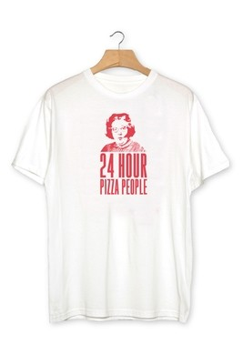 24 HOUR PIZZA PEOPLE - T SHIRT - WHITE