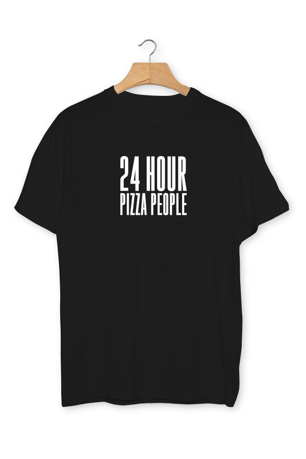 24 HOUR PIZZA PEOPLE - T-SHIRT - Black