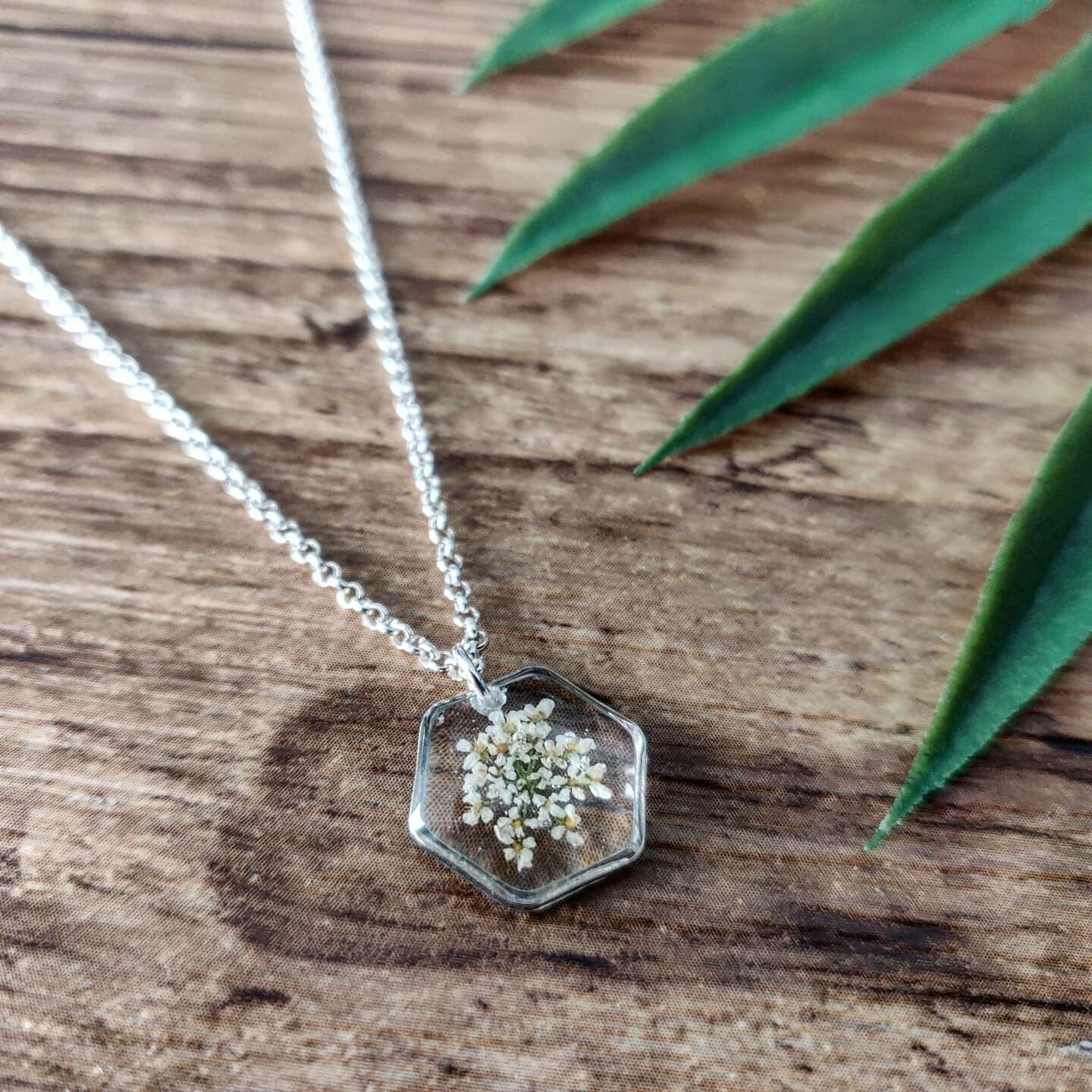 BLOSSOMS: ketting zilver hex klein