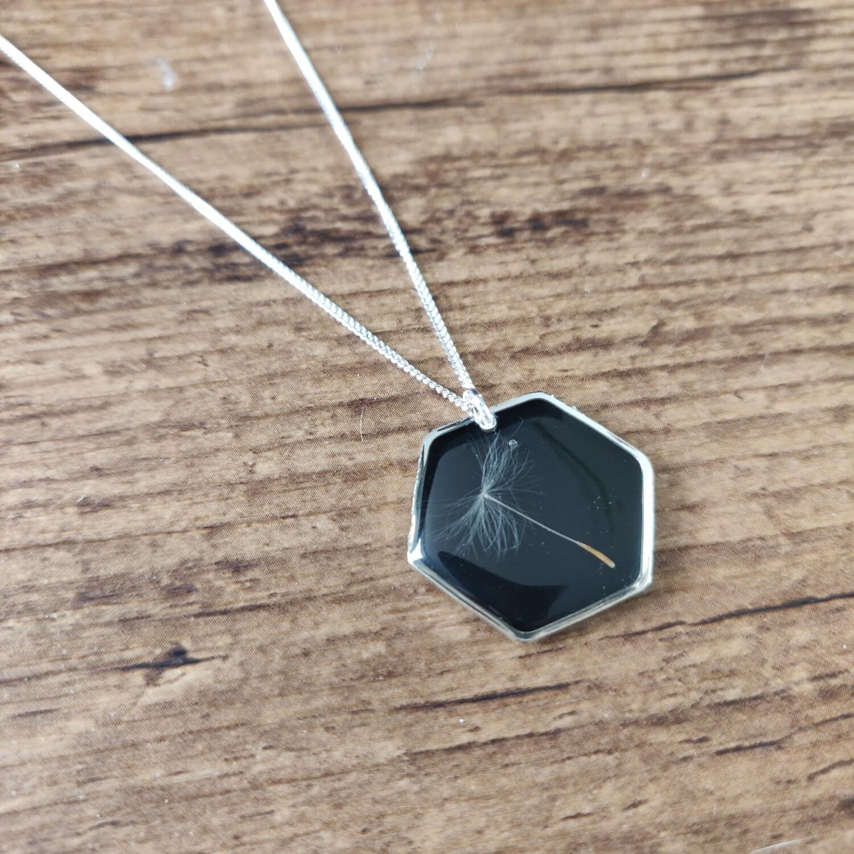 DANDELION: ketting zilver hex groot