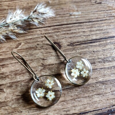 ELDERFLOWER: oorbellen brons