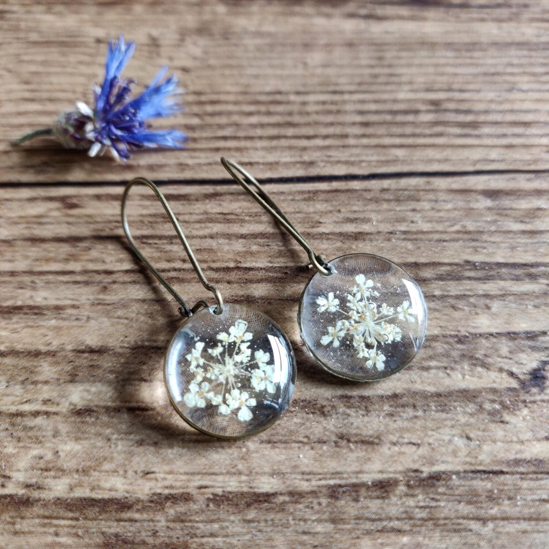 BLOSSOMS: oorbellen brons rond