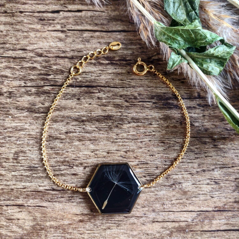 DANDELION: armband goud hex groot
