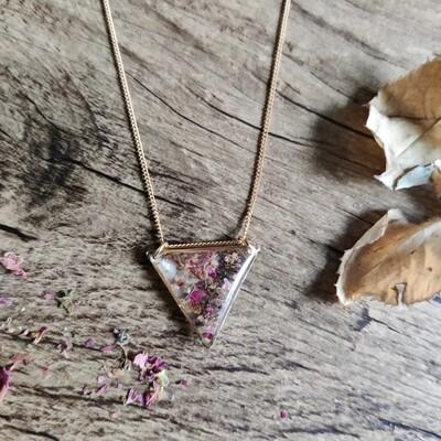 Pressed roses: ketting goud driehoek