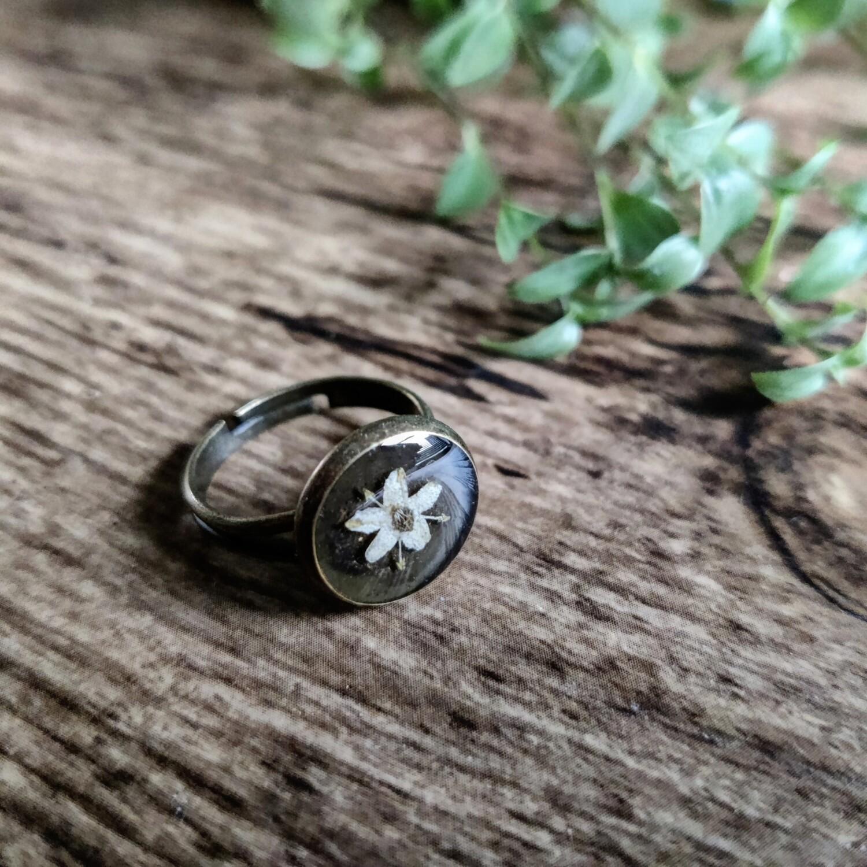 Elderflower ring brons