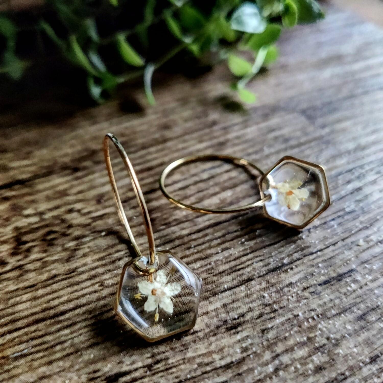Elderflower: oorringen goud